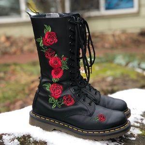 Dr Martens 1490 Vonda Leather Mid Calf boots